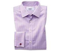 Extra Slim Fit Hemd in Flieder mit Hahnentritt