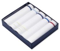 Einstecktücher-Boxset in Weiß