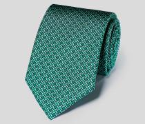 Krawatte mit geometrischem Kreuzschraffur-Print -