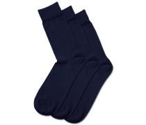 3er-Pack Socken mit hohem Baumwollanteil