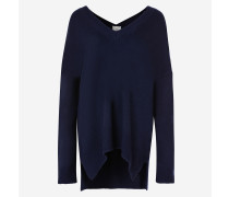 Off-Shoulder-Pullover mit V-Ausschnitt aus Kaschmirmischung.