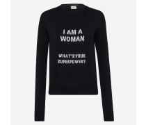 Pullover aus Baumwollstrick mit Schriftzug