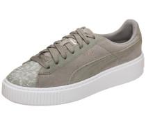 Suede Platform Pebble Sneaker Damen