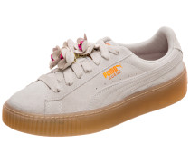 Suede Platform Flower Tassel Sneaker Damen