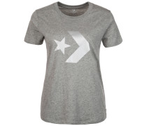 Star Chevron Metallic Crew T-Shirt Damen