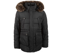 Faux Fur Hooded Winterjacke Herren