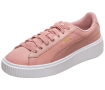 Suede Platform Shimmer Sneaker Damen