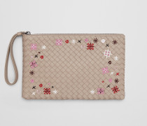 MEADOW FLOWER BEUTEL MIT INTRECCIATO MOTIV IN MINK