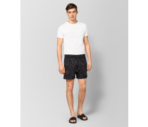 BADESHORTS AUS POLYESTER IN ANTHRACITE