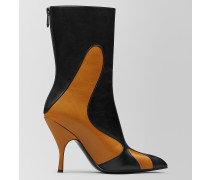 FLAME STIEFELETTE AUS KID MOODEC IN ORANGE NERO