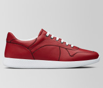 BV LITHE SNEAKER AUS KALBSLEDER IN CHINA RED