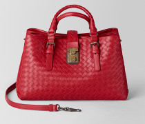 ROMA TASCHE AUS INTRECCIATO KALBSLEDER IN CHINA RED