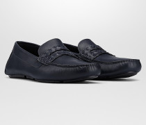 WAVE DRIVER SCHUHE AUS INTRECCIATO KALBSLEDER IN DARK NAVY