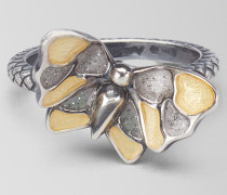 RING AUS SILBER ANTIQUE ORO GIALLO BUTTERFLY