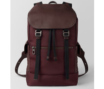 SASSOLUNGO RUCKSACK AUS HI-TECH-CANVAS IN DARK BAROLO