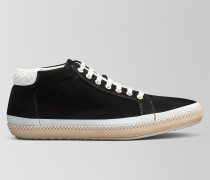 BV FELLOWS SNEAKER AUS VELOURSLEDER IN NERO