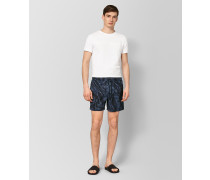 BADESHORTS AUS POLYESTER IN NAVY