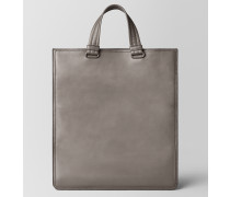 TOTE BAG AUS INTRECCIATO CHECKER STEEL