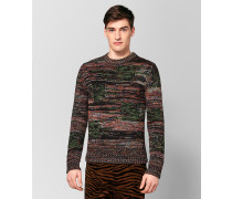 MEHRFARBIGER PULLOVER AUS WOLLE