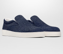 DODGER SNEAKER AUS INTRECCIATO VELOURSLEDER IN DARK NAVY