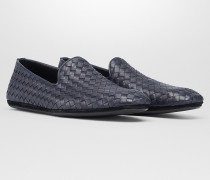 FIANDRA SLIPPER AUS INTRECCIATO KALBSLEDER IN DARK NAVY