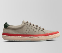 BV FELLOWS SNEAKER AUS VELOURSLEDER IN DARK CEMENT