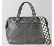 DUFFEL BAG AUS INTRECCIATO CHECKER LIGHT GREY