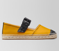 ESPADRILLE AUS NAPPA IN SUNSET NERO