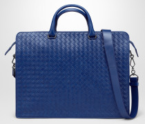 INTRECCIATO AKTENTASCHE IN COBALT BLUE