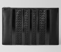 TECH STRIPE POCHETTE AUS NAPPA IN NERO