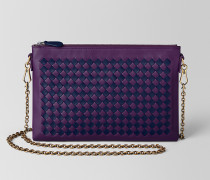 BILETTO TASCHE MIT KETTE AUS INTRECCIATO CHECKER IN MONALISA ATLANTIC