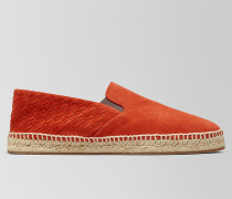 GALA ESPADRILLE AUS INTRECCIATO VELOURSLEDER IN DARK TERRACOTTA