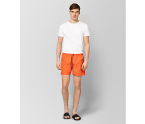 BADESHORTS AUS POLYESTER IN CORAL