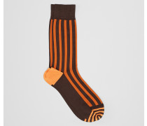 SOCKEN AUS BAUMWOLLE IN COFFEE ORANGE