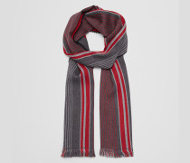 SCHAL AUS WOLLE IN ANTHRACITE RED