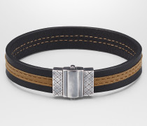 ARMBAND AUS NAPPA IN NERO CAMEL