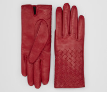 HANDSCHUHE AUS LAMMLEDER IN CHINA RED