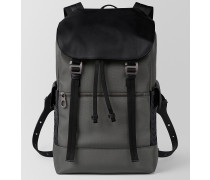 SASSOLUNGO RUCKSACK AUS HI-TECH-CANVAS IN LIGHT GREY