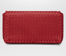 CLUTCH AUS INTRECCIATO NAPPA IN CHINA RED