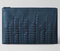 POCHETTE AUS NAPPA IN DENIM TOURMALINE