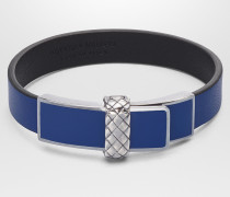 ARMBAND AUS NAPPA IN COBALT BLUE