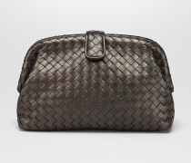 THE LAUREN 1980 CLUTCH AUS INTRECCIATO NAPPA IN DARK BRONZE