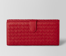 FRENCH-PORTEMONNAIE AUS INTRECCIATO NAPPA IN CHINA RED