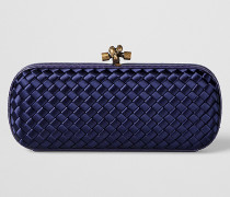 STRETCH KNOT CLUTCH AUS INTRECCIATO IMPERO IN ATLANTIC