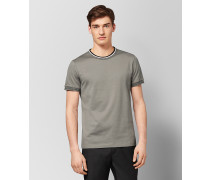 T-SHIRT AUS BAUMWOLLE IN DARK CEMENT