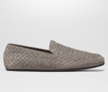 FIANDRA SLIPPER AUS INTRECCIATO WILDLEDER IN STEEL