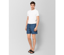 BADESHORTS AUS POLYESTER IN PERIWINKLE