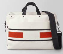 DUFFLE BAG AUS CANVAS VIALINEA LATTE TERRACOTTA
