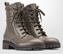 COMBAT BOOT AUS KALBSLEDER IN STEEL
