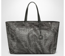 GROSSE TOTE BAG AUS INTRECCIOLUSION IN NEW LIGHT GREY